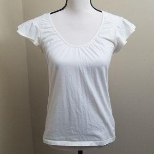 GAP Off-white Tee Shirt Women's Medium Fitted